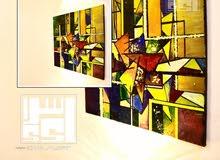 لوحات فنيه يدويه مميزه لاتتكرر في السوق واللوحات تسليم فوري في جده