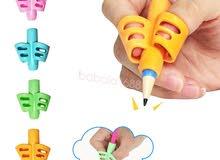 لتعليم الاطفال الكتابه _ finger Grip Silicone Kid Baby Pen Pencil Holder