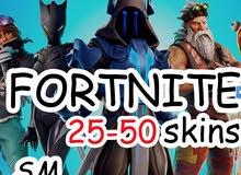 fortnite accounts 25-50 mvp skins