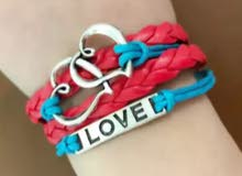 Love and heart bracelets. أساور نسائية