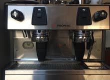 للبيع مكينه قهوه  ماركه بروماك  مع طاحونه قهوه ماركه بارسل الفرنسيه