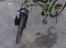 دراجة super rally جديد لون مميز لايت ورا قدام حامل مياه 2معاون مريحه جدا
