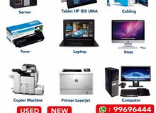 laptop,desktop,hp toner,copy machines and all accessories
