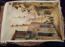 تابلوهات زيتية هاندميد ويوجدرسم اشخاص بالالوان الزيتية والفحم ايضا