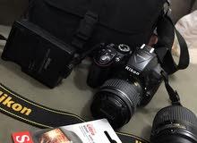 كاميرا نيكون d5300حاله ممتازه جديده مع ملحقاتها