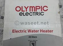 سخان اوليمبيك اليكتريك 30 لتر كهرباء جديد بالكرتونة