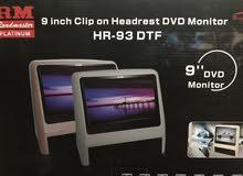 شاشتين DVD من RM مع الضمان