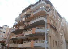 شقة 150م , ناصية شارعين سادس نمرة للبحر في شاطئ النخيل اسكندرية