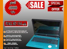 HP NOTEBOOK 15 رمات : 4 جيجا // هارد : 1000 ساتا شاشه : 15.6 بوصه