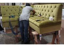 خدمات تنجيد وتفصيل المفروشات تنجيد وتصليح كنب والكراسي وتفصيل ستائر سعر المناسب