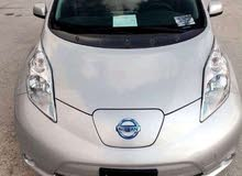 Silver Nissan Leaf 2015 for rent