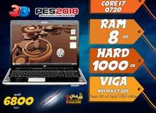 laptop hp core i7 ram 8 hdd 1000 viga nvidia لالعاب 2018 وبرامج الجرافيك