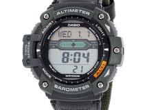 ساعة كاسيو الرقمية (اللون الاخضر الجيشي)