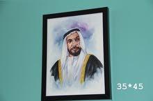 رسمة الشيخ زايد   panting of H.H.Sheikh zayed