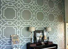 ورق جدران تركيب كافة انواع الورق بالاضافه للدهان والديكور