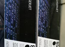 hp laser jet printer cartridge 85 A black available 2 piece