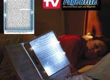 عدسة مضيئةومكبر القراءة Page Brite بالبطاريات