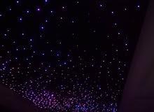 سقف روز. ألياف ضوئية