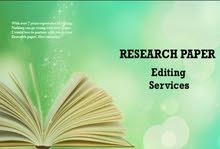 مراجعة علمية ولغويه للاطاريح والبحوث باللغة الانكليزية لاغراض النشر العلمي