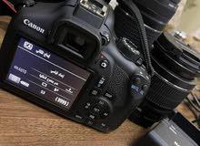 كاميرا كانون استعمل مرتين شبه جديده 1300D