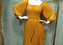 فستان شيفون صافي جديد للطلب جمله فقط