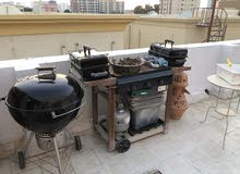 weber 3 piece and 2 another brand used