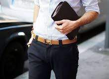 حزام جلد طبيعى رجالى كلاسيك