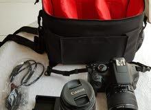 كاميرا كانون 1300D +عدسة زوم