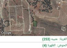 للبيع ارض زراعيه 4357 م في جرش عنيبه حوض الظهره في مشروع المهندسين