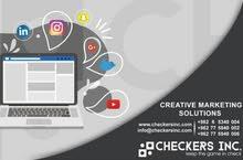 ادارة صفحات مواقع التواصل والتسويق الالكتروني
