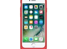 غطاء الحماية الذكي المدمج مع بطارية لهاتف أيفون 7 من أبل – أحمر (MN022AM/A)