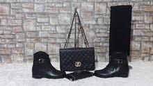 4 في 1 حقيبة +جزدان +وشاح + حذاء