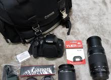 canon 650D with 2 lenses big bag