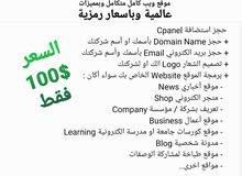 تصميم واستضافة موقع ويب كامل بمميزات عالمية بسعر رمزي 100$ فقط