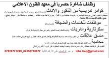وظائف في بغداد ، تدريس ، خدمات ، ادارية