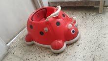 حجلة طفل تركية، شكل دعسوقه، مع مؤثرات صوتية، نظيفة جد