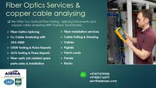 Fiber Optics Services & copper cable analyzing