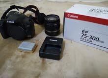 Canon eos 1000D + 2 lens 18-58mm & 75-300mm +tripode
