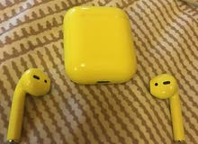 APPLE AIRPODS in Special YELLOW Color !!!