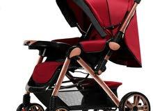 عرباية اطفال متينة غير مستعملة أبداً لون خمري، فقط الكرتونة مفتوحة، للبيع العاجل بسعر ممتاز