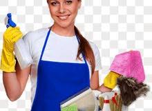 متوفر عاملات نظافة للمنازل يومي أسبوعي شهري