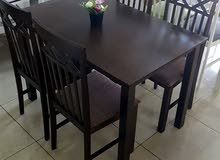 طاولة طعام خشب صناعه ماليزي