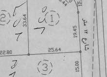 المقابلين حوض 7 الحماره المساحة (789م2) سكن ج نسبة بناء 51% على شارعين 12م +12م