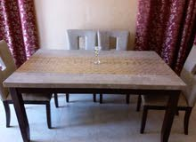 طاوله طعام رخاميه مع 4 كراسي marble dining table99007048