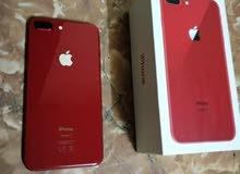 iphone 8+  64G  لون احمر