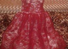 فستان سهرة ملبوس  مرتين فقط للبيع
