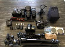 Canon 60D with entire bag and 5x Lenses