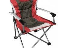 King Folding Chair-Red تحميل المستخدم يصل إلى 130 كجم