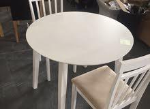 طاولة 2 كراسي جديد