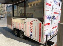 عربة طعام متنقلة جديدة مجهزة بالكامل